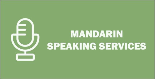 Recent MANDARIN Speaking Services