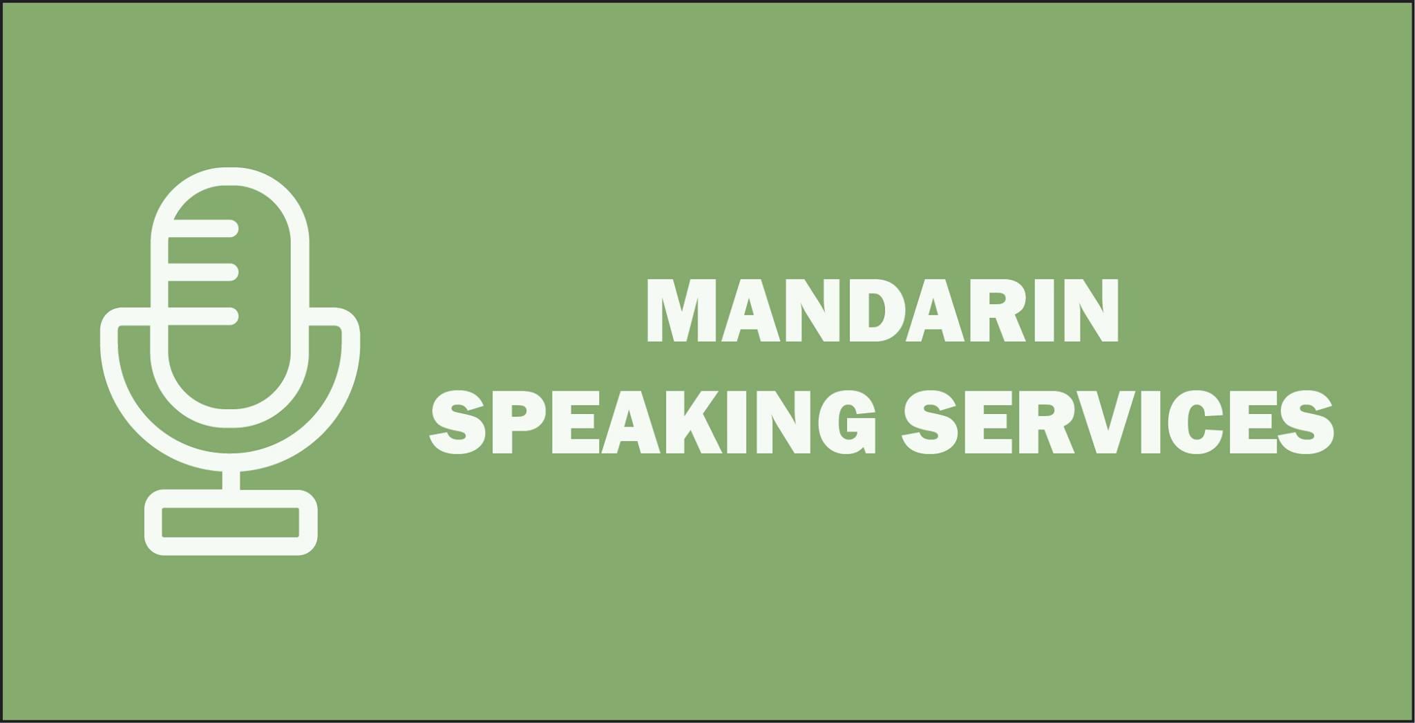 Recent MANDARIN Speaking Services